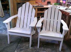 Custom Adirondack chairs...Sprayed flat white..