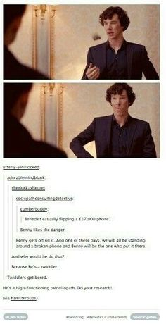 The Sherlock fandom is insane. Your fault BBC 😂😂 Sherlock Bbc, Sherlock Fandom, Benedict Cumberbatch Sherlock, Jim Moriarty, Sherlock Quotes, Watson Sherlock, Martin Freeman, Hunger Games, Fandoms