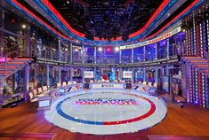 ABC News debuts massive, glitzy new 'Election Headquarters' set on 'This Week' Tv Set Design, Election Night, Classic Image, Abc News, Augmented Reality, Behind The Scenes, World, Design Inspiration, Ads