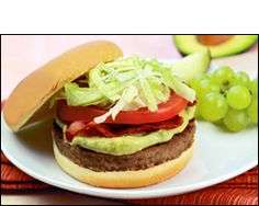 HG's Whopping Avocado Swiss Burger-Tuesday Dinner with grapes and corn