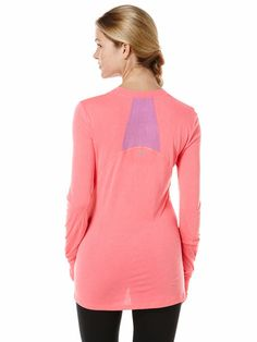 shape modal long sleeve tee, Neon Lipstick, hi-res