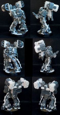Iron Hands Space Marine Devastator with Missile Launcher