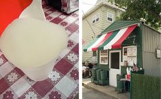 OMG, How about the homemade lemon Italian ice, with the lemon pits! On 4 th Ave in Elizabeth NJ....