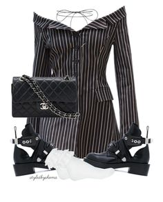 """""""Untitled #251"""" by styledbyshoma ❤ liked on Polyvore featuring Balenciaga, Miss Selfridge, Lilou and Chanel"""