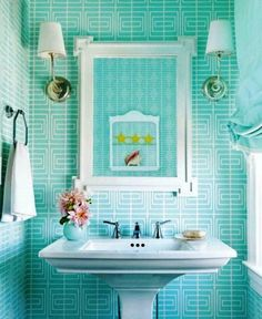 Interior:Exciting Turquoise Bathroom Tile With White Interiors And Lighting Idea Exciting and Refreshing Turquoise Bathroom Decor with Accessories