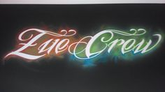 Zue Crew on the bedroom wall 120x30cm  #Art  #airbrushart #airbrushing #inkinthemeet #theartofmonkey #calligraphy