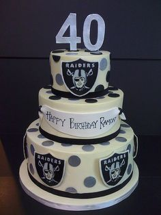 Raiders This cake would be perfect for my boyfriend.