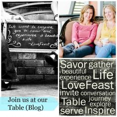 We gather at our blog, LoveFeast Table. Join us! http://lovefeasttable.com