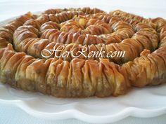 Burma Baklavası-burma tatlısı,ev baklavası,ramazan,bayram tatlıları,şerbetli tatlılar,kocakarı gerdanı,oklavadan çekme,sarığı burma,büzme,büzdürme baklavası,bayram için baklava tarifi,