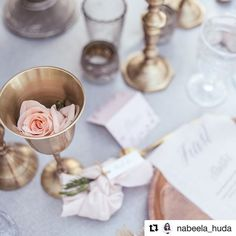 Brass and delicate pinks, for a delicate and romantic color combination! 📸@nabeela_huda  ・・・  I love my job! Getting to work with pretty little things like this 😍  Styling - @mylovelywedding ✨   Decor - @partysocialuae 🍻   Stationary - @mona_makes 👑  Floral - @vintagebloomdxb 🌷  Venue - @madinatjumeirah 🎊    #Regram via @partysocialuae