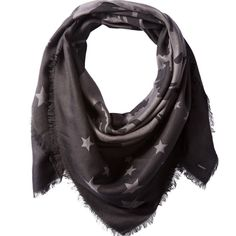 Diesel swilla viscose piece dyed scarf with signature Diesel mohican logo graphic.