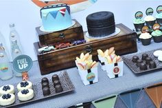 Vintage Car Collection - Cakes and Dessert Table - Spaceships and Laser Beams
