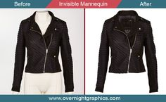 Invisible mannequin is one of the image editing that usually use to separate garment product from mannequin. It is also called Photoshop ghost mannequin.