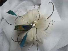 Teal is projected to be the hot color of the … Teal Prom Dresses, Prom Hair Accessories, Feather Hair, Bling Wedding, Feathered Hairstyles, Prom Colors, Hair Accessory, Feathers, Bridesmaid