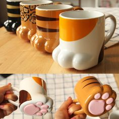 From cat wall decor to the ceramic funny cat coffee mugs, get affordable cat home decor and kitchen decor products from Crazy Cat Shop, cat themed store. Cat Coffee Mug, Cat Mug, Mugs Set, Tea Mugs, To Go Becher, Couple Mugs, Cat Cafe, Cute Kitchen, Cat Lover Gifts