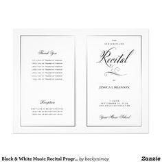 Black White Music Recital Program Template Flyer