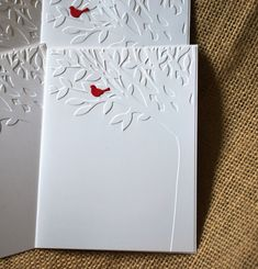 Greeting Card Handmade: Set of 5 Embossed cards by WallridgeFarm