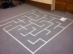 * labyrinth on the floor for kids * labirintus a padlón gyerekeknek
