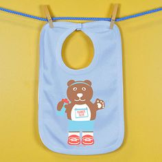 Baby Bib Runner Bear | Running Baby Bibs | Running Baby Clothing