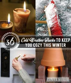 36 Cold Weather Hacks to Keep You Cozy This Winter | Use These Old Tips And New Techniques To Keep Warm And Safe During The Cold by Pioneer Settler at http://pioneersettler.com/cold-weather-hacks/