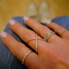 Thin diamond rings.