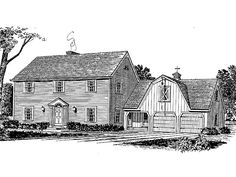 Eplans Colonial House Plan - Colonial Charm with Loft Area Over the Garage - 2320 Square Feet and 4 Bedrooms(s) from Eplans - House Plan Code HWEPL14127