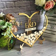 Transparent heart shaped wedding guestbook alternative Gold The Wedding Date, Wedding Book, Wedding Signs, Our Wedding, Wedding Ideas, Wedding Decorations, Rustic Wedding Gifts, Elegant Wedding, Wood Guest Book