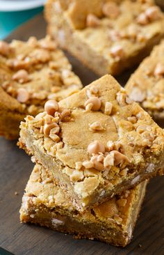 Butterscotch Toffee Blondies are a little chewy and insanely buttery.