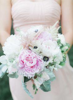 Peonies and anemone: http://www.stylemepretty.com/missouri-weddings/2014/09/03/missouri-inspiration-shoot-at-longview-farm/   Photography: Carretto Studio - http://www.carrettophoto.com/