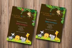 Jungle Theme Birthday Party Invitation