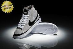 eb7c9c32e X-Girls Nike Blazer Plata with Negro Logo Mujeres outlet zapatos online