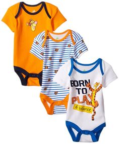 Amazon.com: Disney Baby Boys' Tigger 3 Pack Bodysuit: Clothing