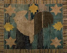 Rooster Vane - Antique Adaptation rug hooking pattern from Folk 'n' Fiber