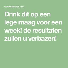 Drink dit op een lege maag voor een week! de resultaten zullen u verbazen! Dr Ozz, New Me, Diabetes, Health Tips, Detox, Food And Drink, Jokes, Exercise, Workout