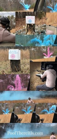 Powder Box Target! Exploding Gender Reveal Target. Creative Gender Reveal Idea with a unique gender reveal twist for a picture perfect reveal. Gender reveal. Gender reveal ideas.