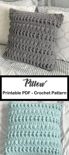 Pillow Crochet Patterns – Update Your Home - A More Crafty Life Crochet Easter, Crochet Diy, Crochet Crafts, Crochet Projects, Crochet Geek, Crochet Home Decor, Cushion Cover Pattern, Crochet Cushion Cover, Crochet Cushions