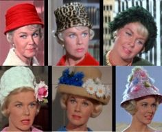 """3/6/14 3:19a   Universal  Doris Day in all of her  Hats: """"Pillow Talk"""" 1959   &  """"Lover Come Back"""" 1961"""