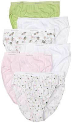 Fruit of the Loom Women's 6-Pack Cotton Hi-Cut Briefs