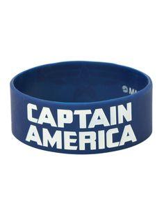 Marvel Captain America: The Winter Soldier Logo Rubber Bracelet | Hot Topic