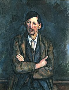 Man with crossed arms 1899 Cezanne Oil on canvas Neue Gallerie former exhibition