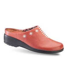 Loving this Red Liona Leather Clog on #zulily! #zulilyfinds