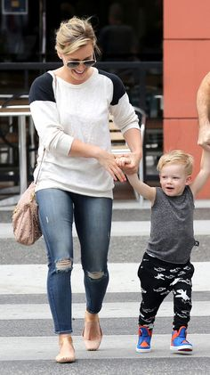 Hilary Duff steps out in J BRAND's 835 Mid-Rise Capri in Misfit, in Beverly Hills, CA.