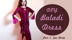 Make a custom fitted baladi dress! DIY Baladi Dress / Saidi Dress Pt 2: Sew Along - SPARKLY BELLY