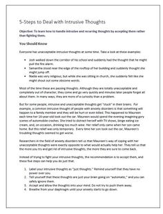 This worksheet is designed to help people find a way to deal with recurring intrusive thoughts. It asks people to learn and practice a procedure of accepting rather than fighting their thoughts. Anxiety Tips, Anxiety Help, Therapy Worksheets, Therapy Activities, Body Image Quotes, Ways To Reduce Anxiety, Depersonalization, Adhd Help, Cognitive Behavior