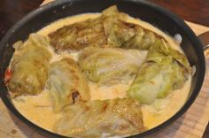 Stuffed cabbage rolls is a popular German dish. Cabbage is used since a long time as it is rich of Vitamin C, so it used to be a typical dish during winter.