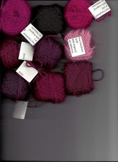 "Yarn kit for The Red Palm Cap - knitting directions in the book ""Poems of Color,"" by Wendy Keele"