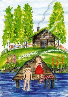 Virpi Pekkala - a well-known Finnish postcard artist.