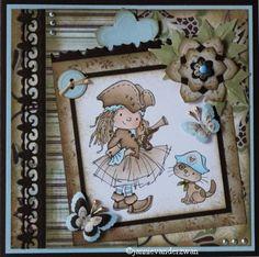 Welkom bij Jannie van der Zwan: Multi Frame Dies Cute Cards, Diy Cards, Creative Cards, Rebel, Birthdays, Projects To Try, Card Making, Invitations, Children