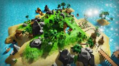 Lowpoly Tropical Island https://www.unrealengine.com/marketplace/lowpoly-tropical-island