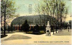 """"""" The Tabernacle, Salt Lake City, Utah Vintage Post Card. Karodens Vintage Post Cards."""